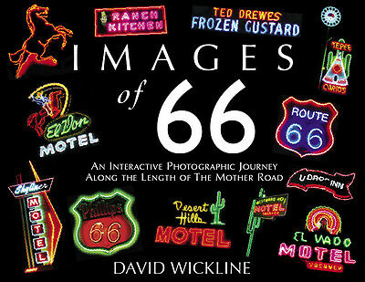 IMAGES of 66 VOL 1 & IMAGES of 66 VOL 2 -2 ROUTE 66 BOOKS by DAVID WICKLINE USED