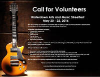 Volunteers for the Waterdown Arts and Music Streetfest