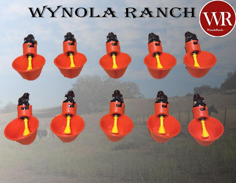 Купить WynolaRanch.net .#. 300 - 10 Pack Poultry Water Drinking Cups Chicken Hen Plastic Automatic Drinker,quail