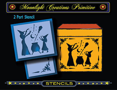 Halloween Stencil~MAGIC LESSONS FOR BEGINNERS~Witches CAST Spells of MAGIC Stars - Witches Spells For Halloween