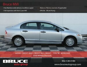2009 Honda Civic DX-G 1.8L 4 CYL I-VTEC 5 SPD MANUAL FWD 4D SEDA