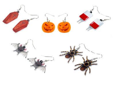 Fantasmas Para Halloween (Halloween Pendientes Accesorio para Disfraz Vampiro Fantasma Ghoul)