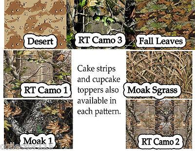 Camo Prints for Edible Sugar Cake Wraps or toppers](Camo Cake Toppers)