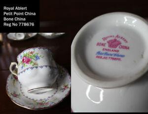 Royal Albert teacups and saucers