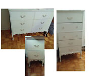 Provincial white bedroom furniture