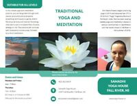Traditional yoga and meditation - Fall River