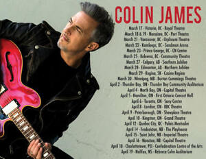 2 tickets for sale Colin James concert at Imperial Theatre