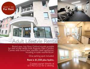 Adult Lifestyle Condo - Brand New - Available For Rent