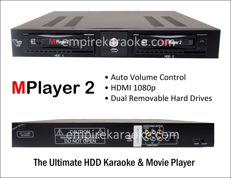 KARAOKE Mplayer 2 PRO with AUTO VOLUME CONTROL 4TB HDD with 20K Vietnamese songs
