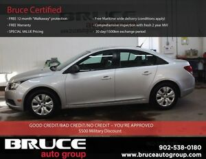 2014 Chevrolet Cruze LS 1.8L 4 CYL 6 SPD MANUAL FWD 4D SEDAN SAT