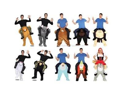 Schulter Trage darauf Reiten Schweinchen Rücken Kostüm Kleid Outfit Herren Damen ()