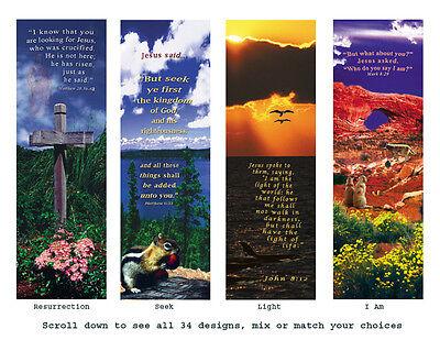 1 lot 250 Inspirational Bookmark cards digital photo art with Bible verses