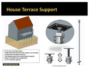 Decks, Sheds, Additions, Underpinning, Helical Pile Supports
