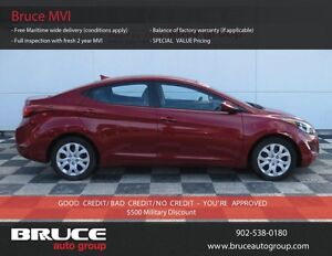 2014 Hyundai Elantra 1.8L 4 CYL 6 SPD MANUAL FWD 4D SEDAN