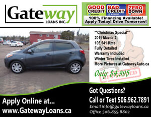 2011  Mazda2 - Low KMs - Financing Available with GatewayLoan.ca