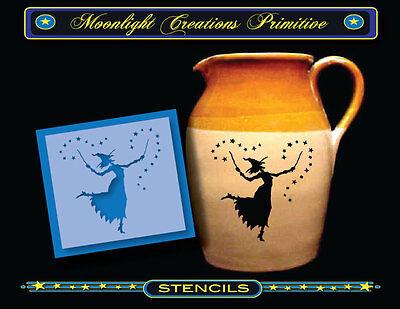Halloween Stencil~Vintage Style~STARRY WITCH DANCE~ 4.5