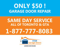 MISSISSAUGA & PEEL GARAGE DOOR REPAIR DONE ASAP  - Since 1987