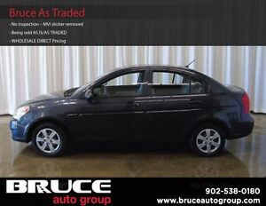 2009 Hyundai Accent GL 1.6L 4 CYL 5SP MANUAL FWD 4D SEDAN