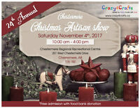 24th Annual Chestermere Christmas Artisan show - Sat Nov 4, 2017