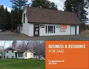 Business and residence for sale