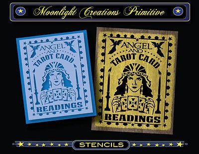 Tarot Card Reader Halloween (Halloween Stencil~ANGEL & TAROT CARD READINGS~Gypsy Fortune Teller Mystic)