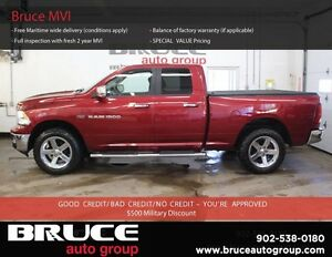 2012 Dodge RAM 1500 BIG HORN 5.7L 8 CYL HEMI AUTOMATIC 4X4 QUAD