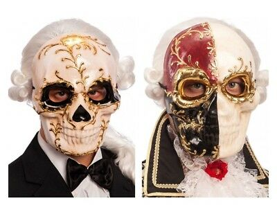 Skull Masquerade Mask Sugar Day of the Dead - Adult Day Of The Dead Skull Maske