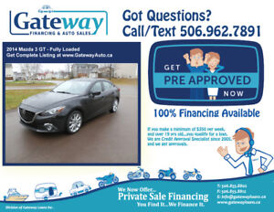 Mazda 3 GT -Fully Loaded- We Finance ALL Credit Same Day.