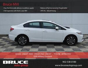 2015 Honda Civic EX 1.8L 4 CYL I-VTEC CVT FWD 4D SEDAN HEATED SE