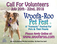 Call for volunteers - must love animals!!