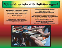 Cours de Djembé, percussions de groupe