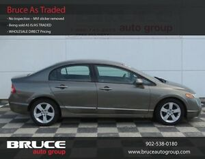2007 Honda Civic LX 1.8L 4 CYL i-VTEC AUTOMATIC FWD 4D SEDAN
