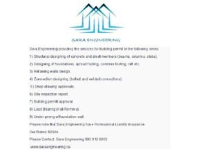 Structural Engineer (P. Eng.) Available in Hamilton