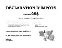 SERVICE DE DÉCLARATIONS D'IMÔTS 2015