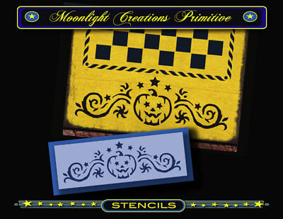 STENCIL~HALLOWEEN PUMPKIN BORDER~2.5