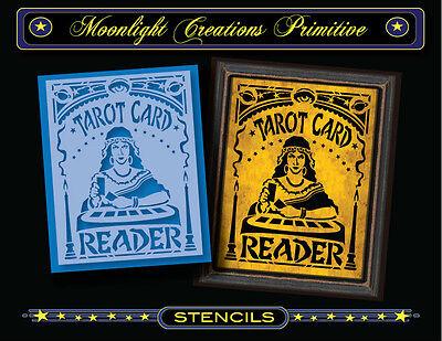 Tarot Card Reader Halloween (Halloween Stencil~Vintage~TAROT CARD READER 200~All Seeing Gypsy Fortune Teller)