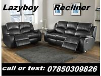brand new 3 + 2 recliner leather sofa black or brown