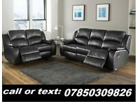 L a z y . .boy recliner sofa 3 and 2 black or brown real leather BRAND NEW