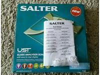 SALTER ULTRA SLIM ANALYSER BATHROOM SCALES (BMI, BODY FAT ETC)