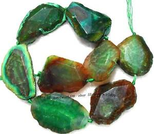 30-50mm-Brown-Green-Crack-Agate-Freeform-Faceted-Beads-15