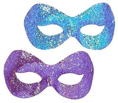 Hollywood Glitzer Maskerade Damen Augenmaske Violett Blau Halbschuhe Kinder