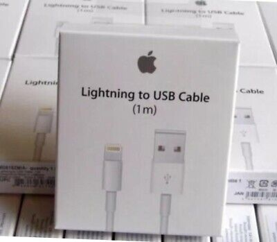 Boxed GENUINE Apple For Iphones 5 5S 6 6S 7 XS Lightning USB charger Lead Cable