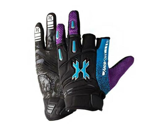 HK Army Pro Gloves Artic Blue Purple Paintball Airsoft Gloves NEW - L Lg Large