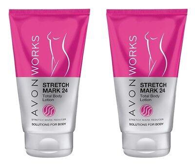 Stretch Mark Reducer (2 x AVON Works Stretch Mark 24 Total Body Lotion Stretch Mark Reducer)
