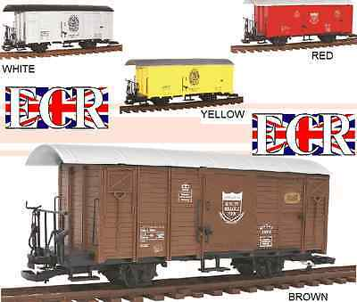 G SCALE GAUGE RAILWAY BOX CAR BROWN CARGO BOXCAR GARDEN ROLLING STOCK TRAIN for sale  Shipping to Ireland
