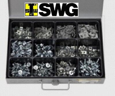 SWG 470 tlg  Blechschrauben Sechskant und Blechmuttern im Metallkoffer NEU
