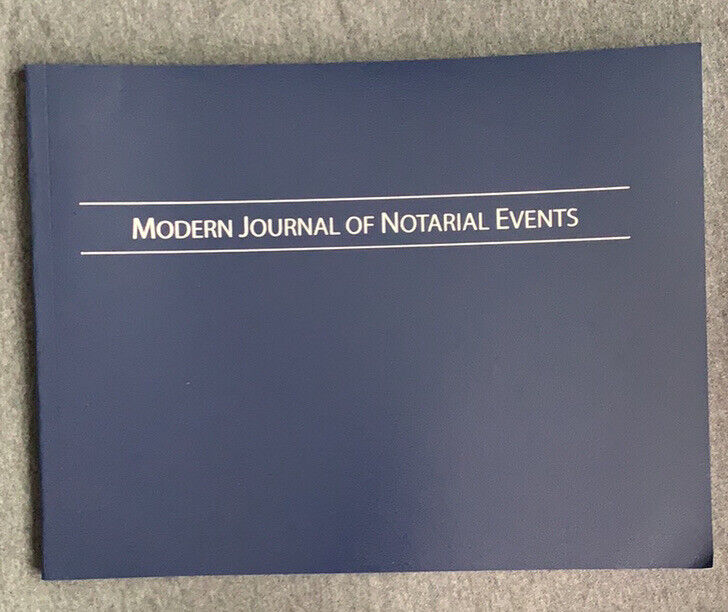 Brand New Modern Journal of Notarial Events (Soft Cover) Notary Public Journal