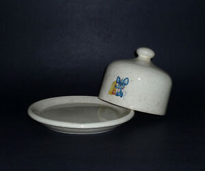 Blue Mouse Covered Cheese / Butter Dish : Excellent Condition Cambridge Kitchener Area image 2