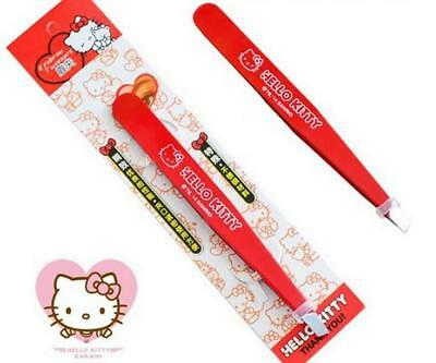 1x Hello Kitty Red Eyebrow Hair Remover Tweezers Eyebrow Clip Clipper for Girls