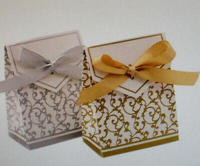 10 Geschenke Box Fix Box Tasche für Gastgeschenke Fb Gold Hochzeit Party